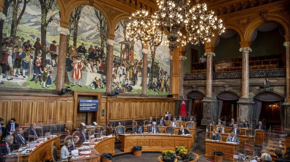 Le conseil des Etats hier, lors du débat sur la valeur locative. Le changement de système va entraîner  une perte fiscale de plus d'un milliard de francs par an.