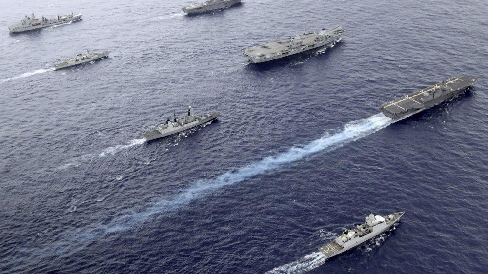 De récentes manœuvres avec des navires britanniques, japonais et canadiens dans l'océan Pacifique: l'alliance se renforce face à la Chine.