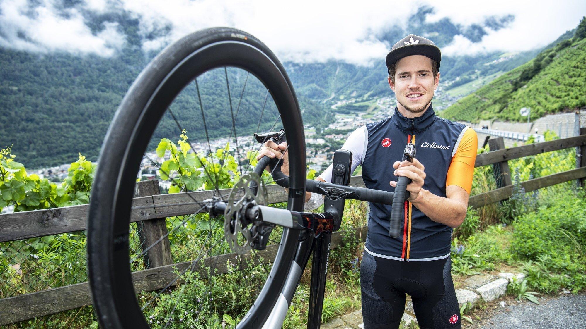 Arnaud Tissières a plutôt bien digéré les cols durant ces deux cyclosportives en France.