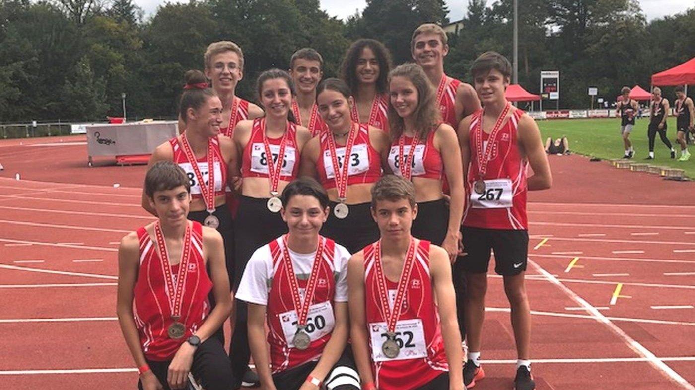 Les athlètes de la Communauté d'athlétisme du Valais romand (COAVR) présents à Hochdorf.