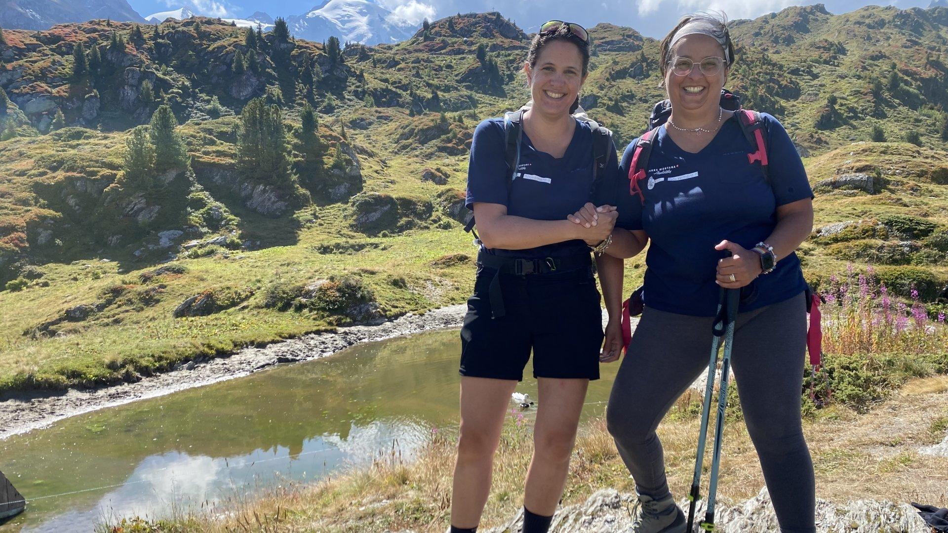 Aude Métrailler et Caterina Granier, heureuses d'avoir pu participer à ce projet ressourçant.