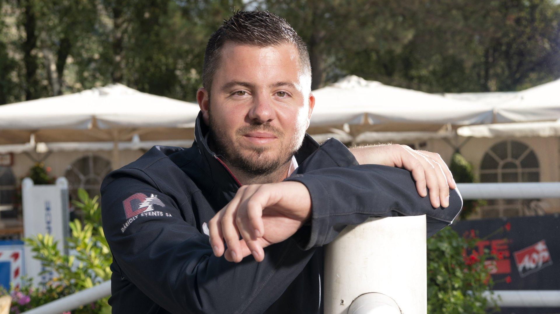 Anthony Darioly, 31 ans, vice-président du Jumping national de Sion pour la deuxième année.