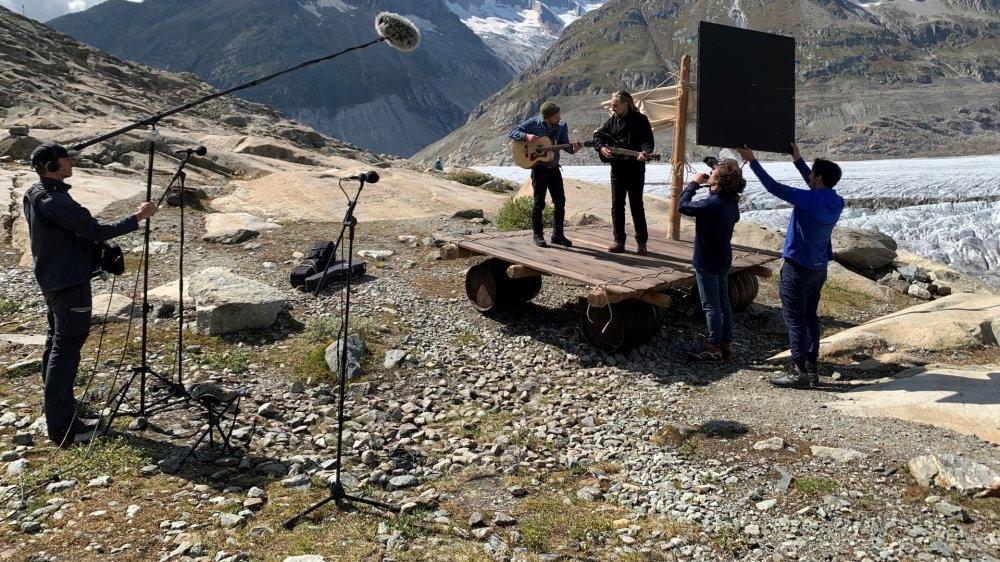Stephan Eicher a enregistré une chanson inédite au glacier d'Aletsch.