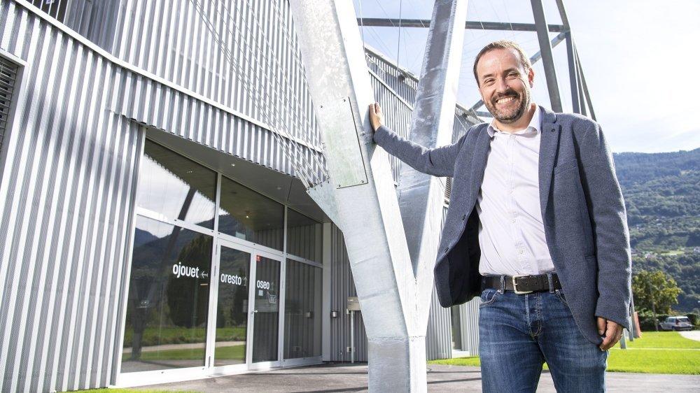 Gérard Moulin, directeur de l'OSEO Valais, est heureux d'enfin célébrer l'inauguration du nouveau bâtiment, situé à la rue Oscar-Bider à Sion.