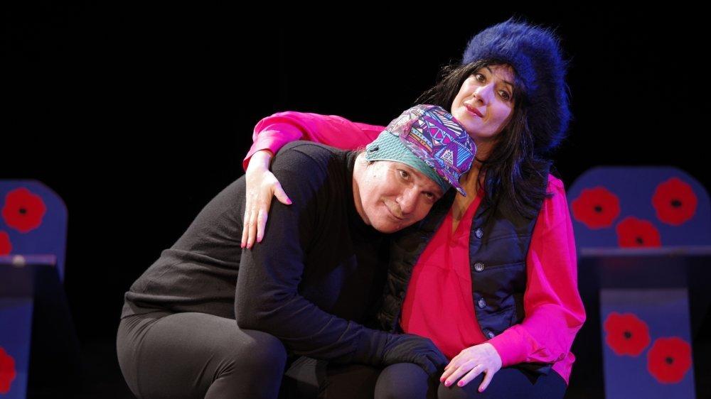 Philippe Thonney dans le rôle de Robert et Delphine Burisi dans celui de Laurence. Une relation fusionnelle, et pour cause.
