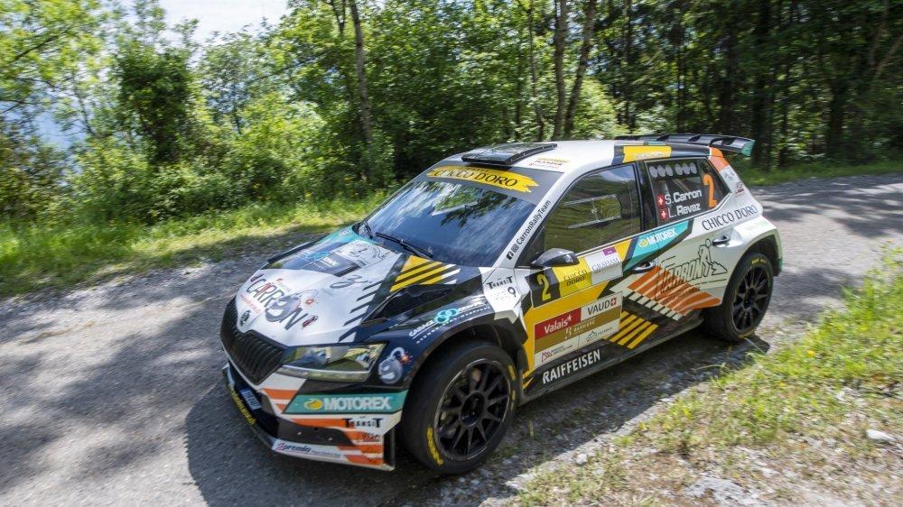 Après le Rallye du Chablais (photo) et le Rallye Mont-Blanc Morzine, Sébastien Carron s'est imposé sur le Rallye du Tessin.