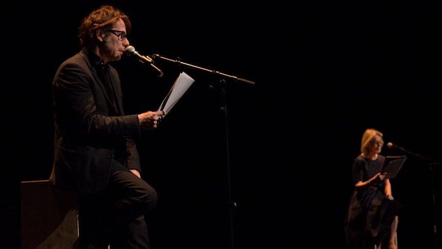 Mathieu Amalric et Marthe Keller donnent voix et corps au texte d'Antoine Jaccoud.