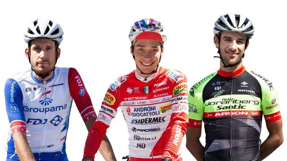 Sébastien Reichenbach, Simon Pellaud et Antoine Debons se retrouveront, pour la première fois, dans le même peloton professionnel.