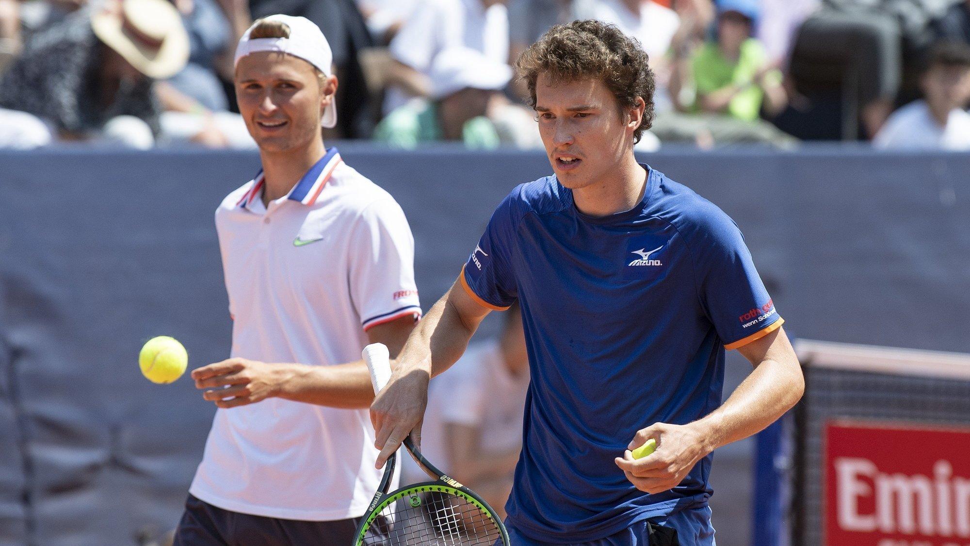 Leandro Riedi et Jakub Paul, deux des Suisses qui joueront sur les courts du TC Sierre.