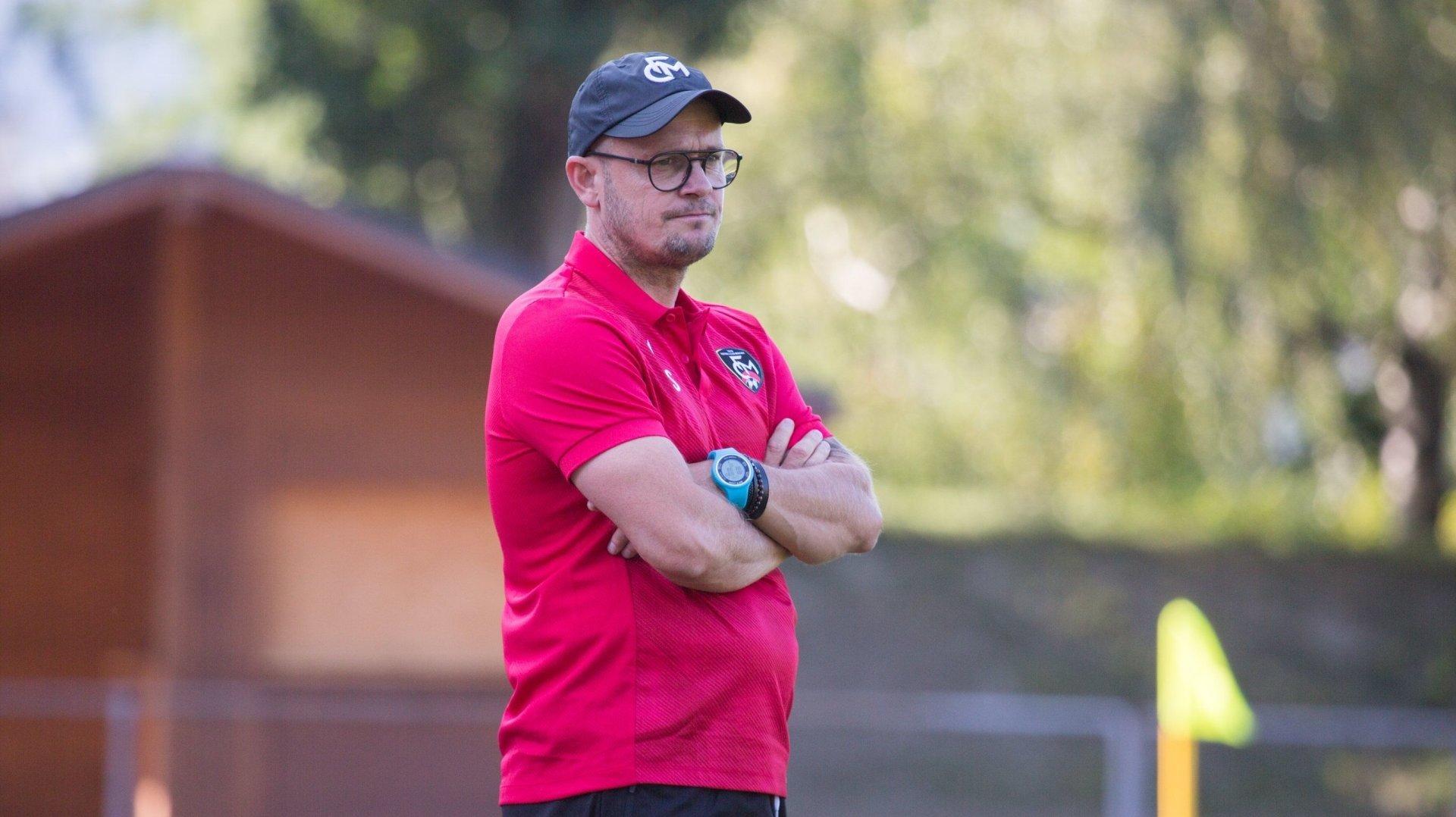Cédric Strahm, entraîneur du FC Monthey, a vu son équipe prendre un bon point à Echallens samedi.