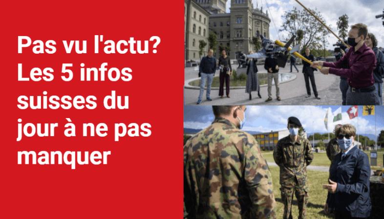 Les 5 infos à retenir dans l'actu suisse de ce mardi 31 août