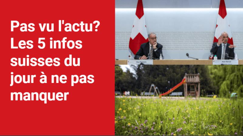 Les 5 infos à retenir dans l'actu suisse de ce mercredi 8 septembre
