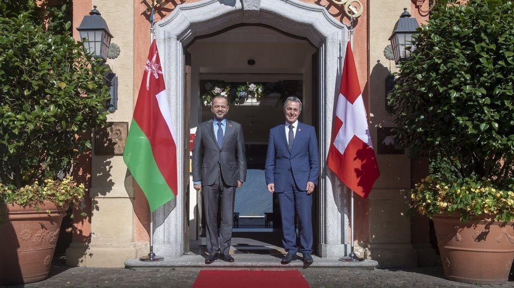 Diplomatie: Ignazio Cassis a rencontré son homologue d'Oman au Tessin