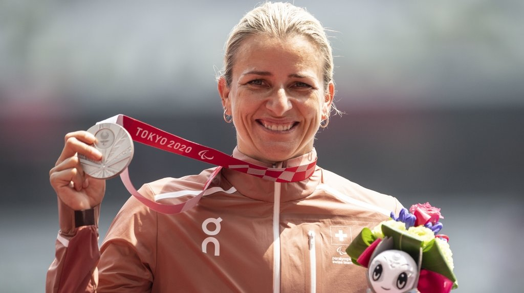 C'est la quatrième médaille pour Manuela Schär à des Paralympiques. Seul l'or lui fait encore défaut.
