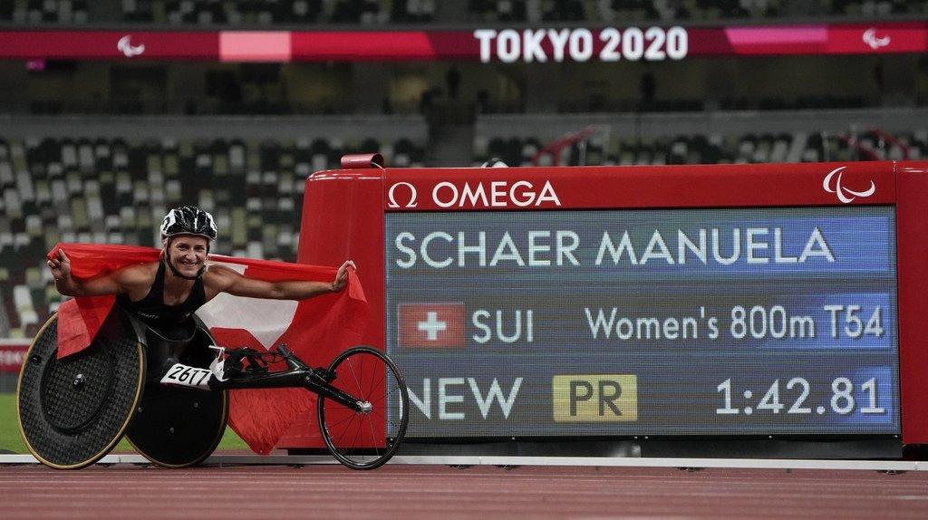 Jeux Paralympiques: Manuela Schär décroche l'or et le record, Catherine Debrunner le bronze