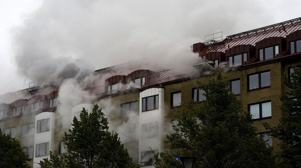 L'explosion a ravagé mardi un immeuble de Göteborg.