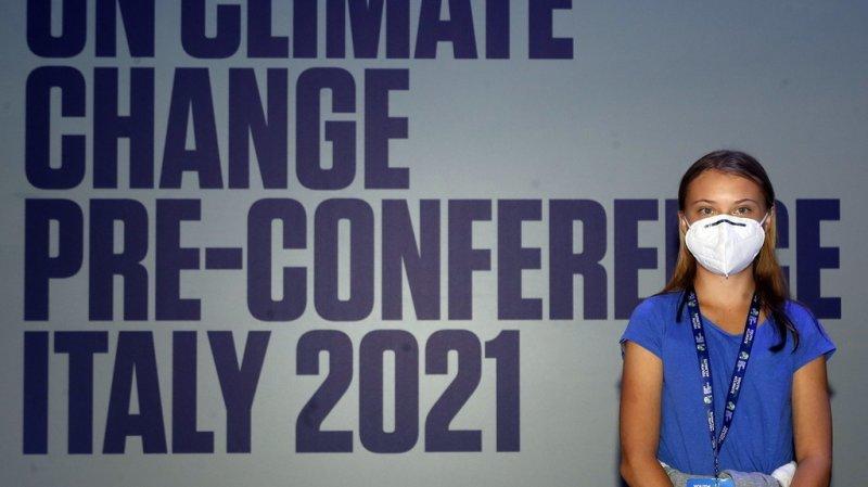 """Greta Thunberg était présente à Milan à la conférence """"Youth4climate : driving ambition Italy 2021""""."""