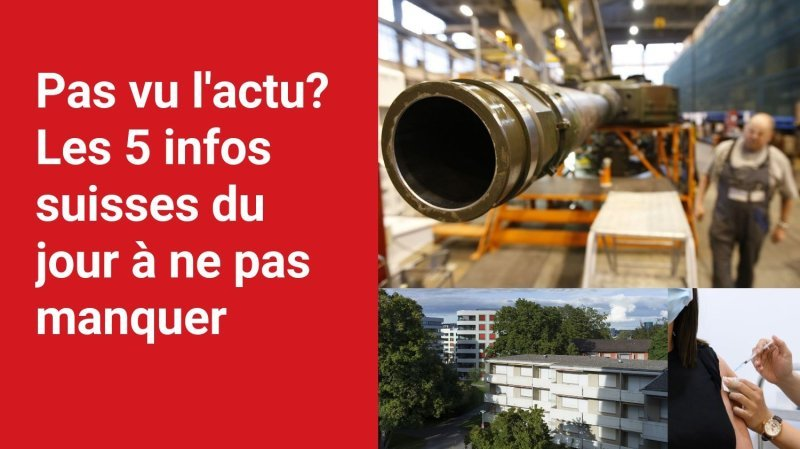 Les 5 infos à retenir dans l'actu suisse de ce lundi 13 septembre
