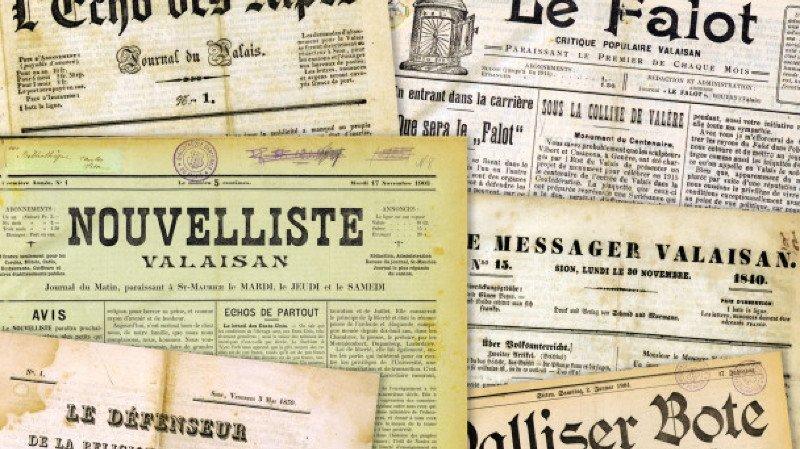 Journaux et journalistes valaisans au XXème siècle