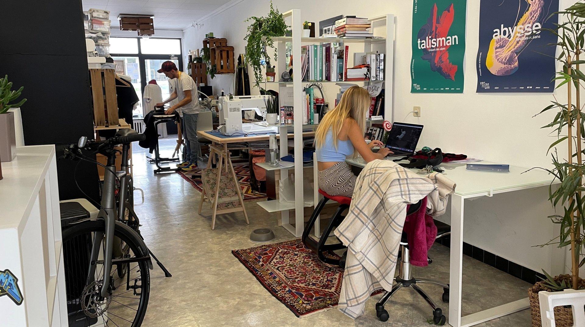 Sierre: espace de coworking pour artistes, l'Antenne ouvre ses portes