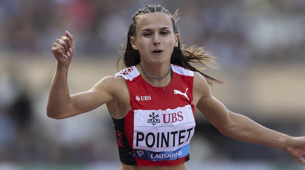 Léonie Pointet (ici à Athletissima) a signé un chrono remarquable sur 100 m samedi.