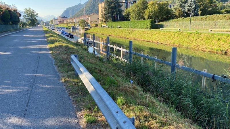 l'accident a eu lieu sur ce secteur de la route de la Plage au Bouveret.