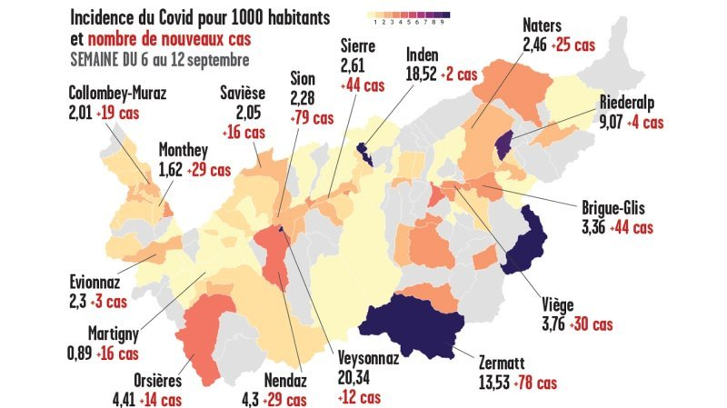 Coronavirus: certaines communes valaisannes peinent à contenir les contagions