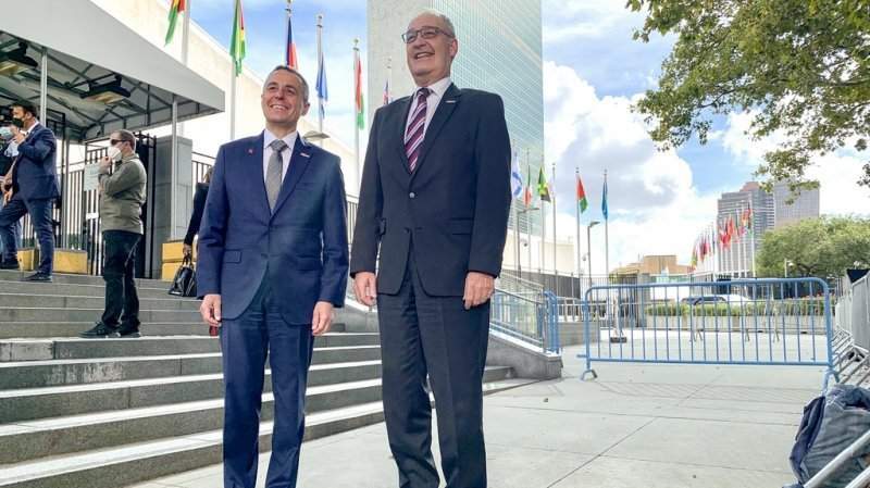 Guy Parmelin et Ignazio Cassis promeuvent la Suisse à l'ONU à New York