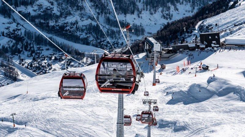 La nouvelle télécabine de dix places assises, Zinal - Sorebois - Espace Weisshorn a enfin pu être inaugurée ce samedi au sortir d'un exercice plombé par la crise du coronavirus.