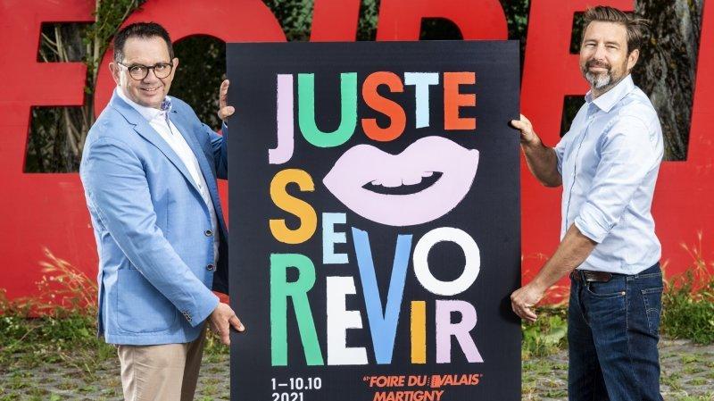 Le président Vincent Claivaz (à g.) et le directeur général Samuel Bonvin ont présenté ce mercredi les points forts de la 61e Foire du Valais baptisée «Juste se revoir».