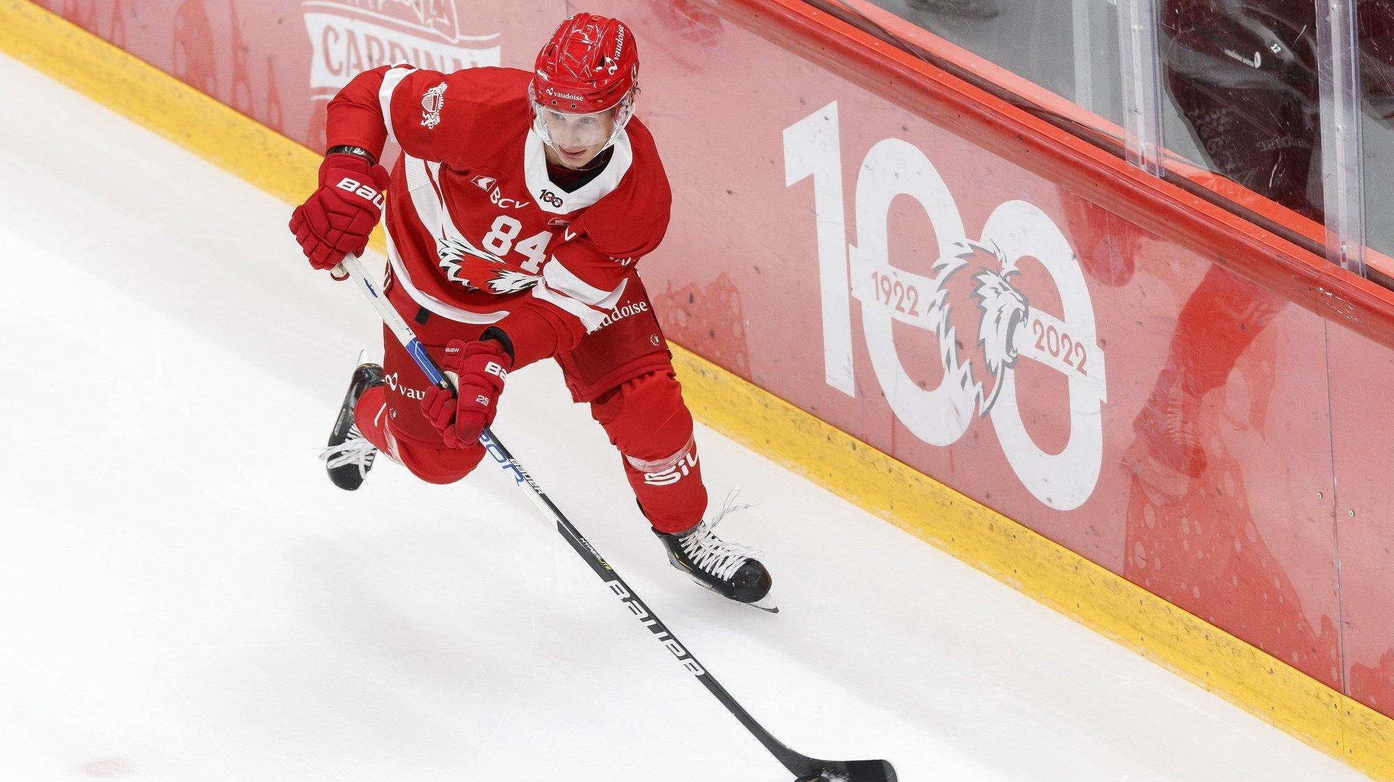 Hockey – Loïc In-Albon: «Je ne m'attendais pas à ce que Lausanne me rappelle aussi vite»