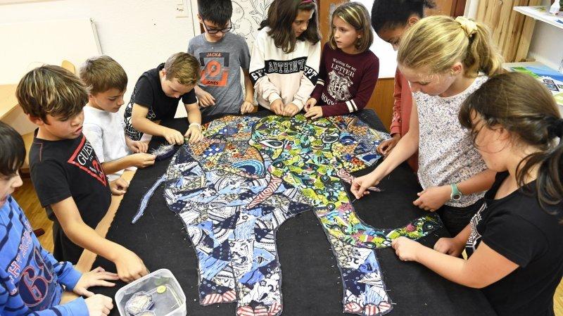Saxon: la semaine de la paix à l'école
