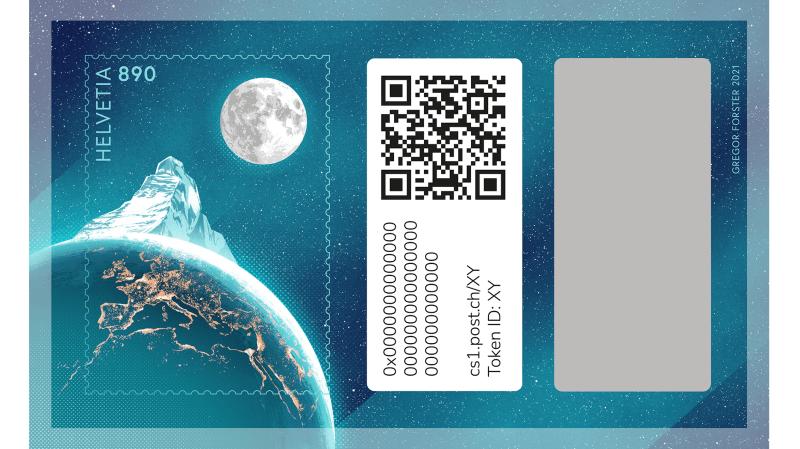 Le crypto-timbre paraîtra le 25 novembre 2021 et sera limité à 175 000 exemplaires.