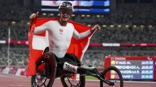 Jeux Paralympiques: Marcel Hug décroche l'or du 5000 m en fauteuil roulant