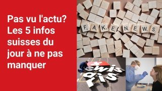 Les 5 infos à retenir dans l'actu suisse de ce lundi 27 septembre
