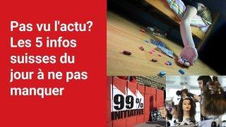 Les 5 infos à retenir dans l'actu suisse de ce jeudi 9 septembre