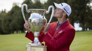 Rasmus Højgaard, deuxième plus jeune vainqueur de l'Omega European Masters de golf