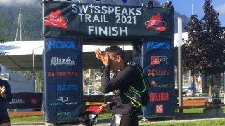 «Sans ma femme et mes enfants, rien ne serait possible», confie, ému, Michael Nançoz, 2e du Swiss Peaks 360