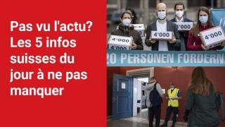 Les 5 infos à retenir dans l'actu suisse de ce lundi 20 septembre