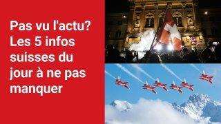 Les 5 infos à retenir dans l'actu suisse de ce vendredi 17 septembre