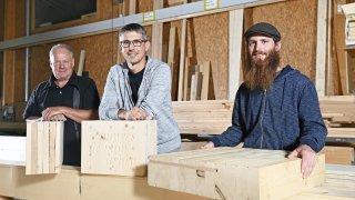 Val de Bagnes: trois entreprises s'unissent pour construire avec du bois brut et local