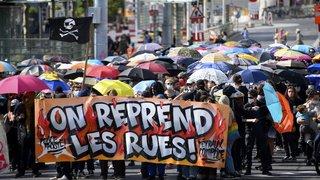 Lausanne: entre 200 et 300 personnes dans la rue pour revendiquer le droit à manifester