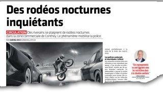 Rodéos nocturnes: la police sanctionne les fous du volant entre Sion et Conthey