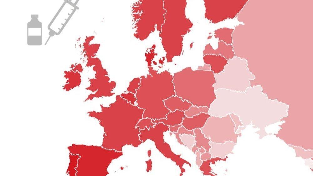 Notre carte indique le taux de personnes entièrement vaccinées par pays.