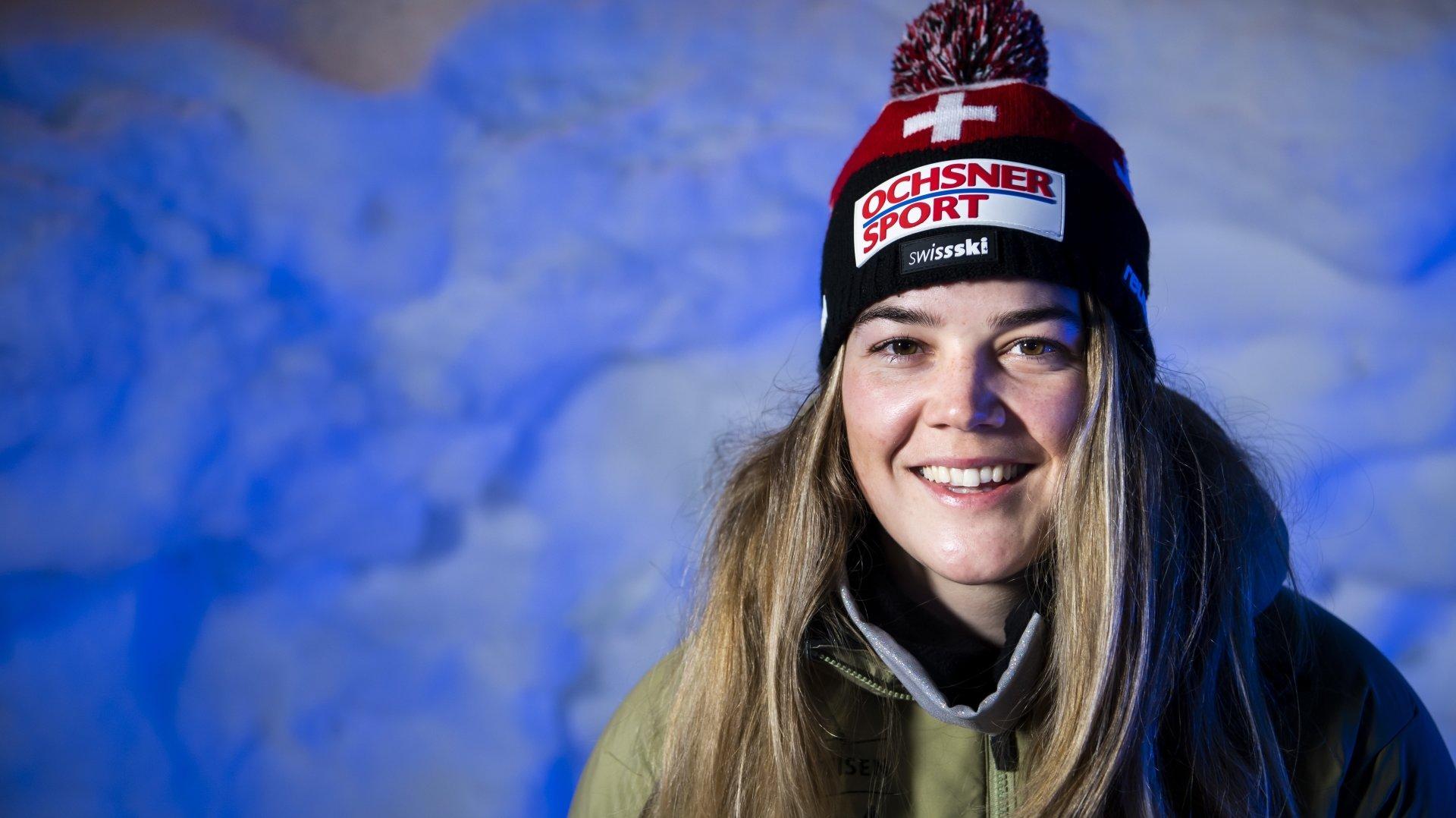 Mélanie Meillard, skieuse de Coupe du monde de 23 ans.