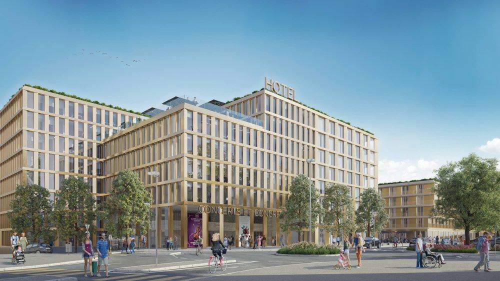 Le futur hôtel de Cour de Gare va porter à plus de 900 le nombre de lits hôteliers en ville de Sion.