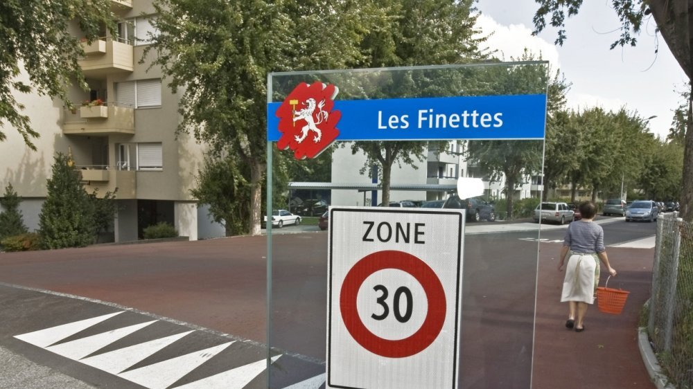 A Martigny, le quartier des Finettes, comme tous les principaux quartiers de la ville, est en zone 30.