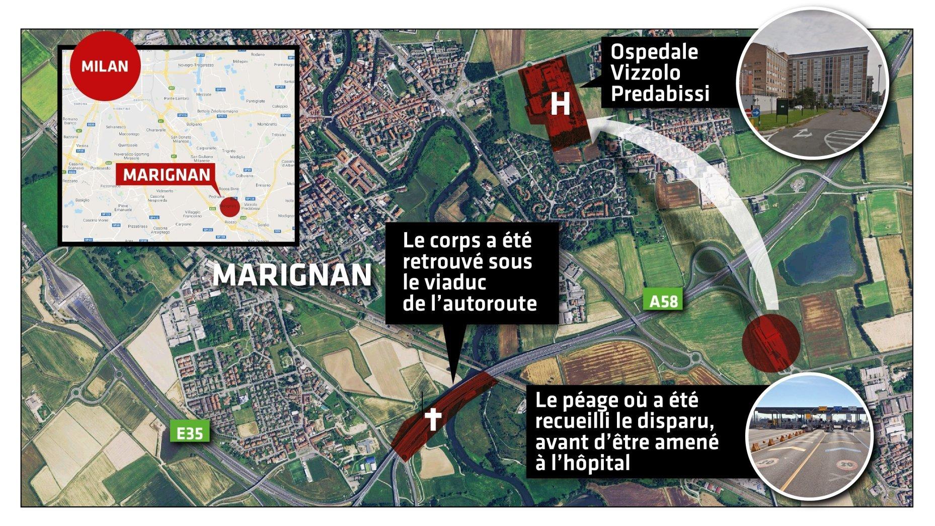 Pris en charge par la police et une ambulance à une sortie autoroutière de l'A58 le lendemain de sa disparition, le Valaisan est contrôlé dans un hôpital voisin qu'il quittera à sa demande.