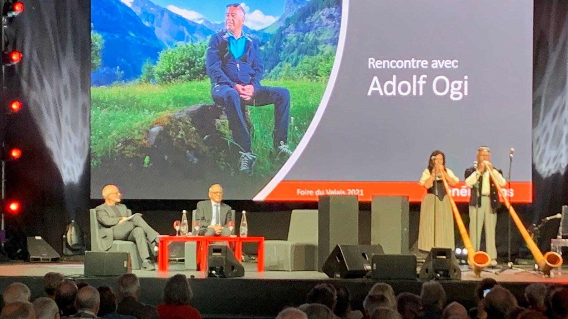 Adolf Ogi a fait forte impression ce lundi à la Foire du Valais à Martigny à l'occasion de la Journée des séniors.
