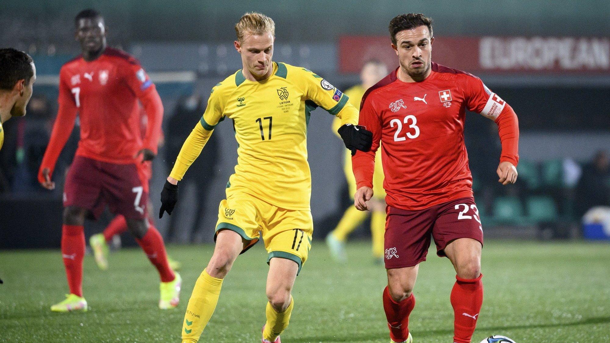 Football: Shaqiri et Embolo font la paire pour l'équipe de Suisse